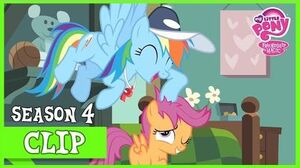 Rainbow Dash Encourages Scootaloo (Flight To The Finish) MLP FiM HD