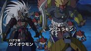 Shurimon with Samudramon, Ninjamon and Asuramon