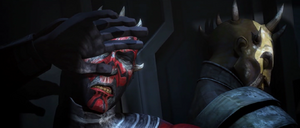 Darth Maul blinded