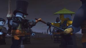 Iron Baron bargains with Sensei Wu