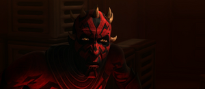Darth Maul startled
