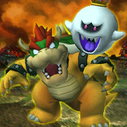 King Boo and Bowser Gold frame LM 3DS