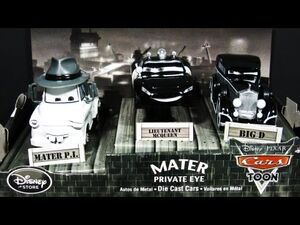 Mater P.I., Lieutenant McQueen and Big D Disney Store