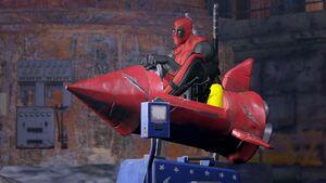 Deadpool Blast Off