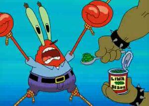 Mr krabs defeat