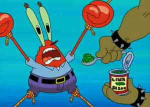 Mr krabs defeat