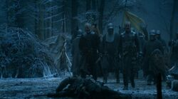 Stannis defeats wildlings