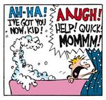 Bath Foam vs. Calvin