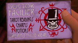 Facilier's business card