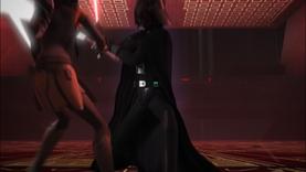 Vader pursues