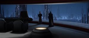 Chancellor Palpatine city-scape
