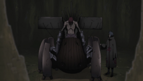 Nagato in his walking machine