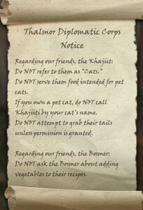 The Thalmor Diplomatic Corps Notice