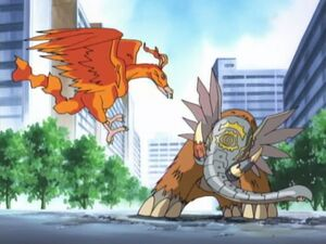 Birdramon vs Mammothmon