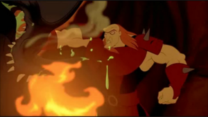 Ruber punching a dragon