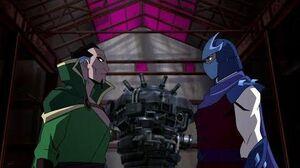 Shredder meets Ra's al Ghul Batman Vs Teenage Mutant Ninja Turtles