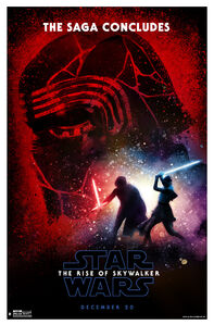 Ther rise of skywalker poster Rey vs. Kylo
