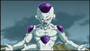 Frieza prepares to transform
