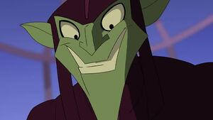Green Goblin's evil grin