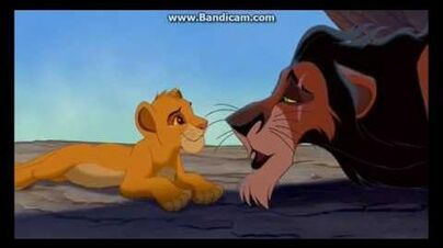 The Lion King - Scar and Simba