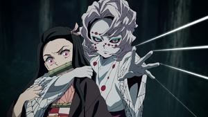 Rui taking Nezuko