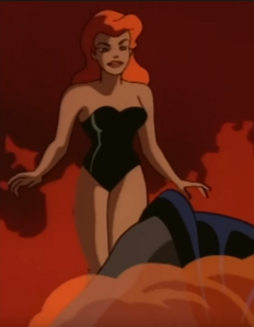 Poison Ivy swimsuit and fire
