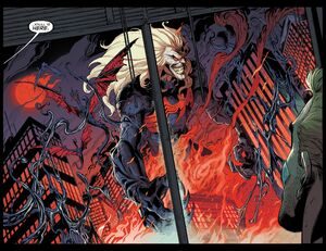 Knull (Earth-616) and Edward Brock (Earth-616) from Venom Vol 4 24 0001