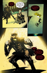 The Batman Who Laughs kick young Court of Owls off edge