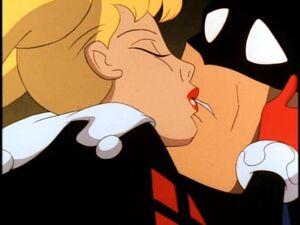 Harley kiss Batman