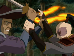Pirate captain VS Prince Zuko