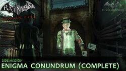 Batman Arkham City - Enigma Conundrum (The Riddler) - Side Mission Walkthrough