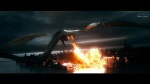 The Hobbit (2013) - Smaug Attacks the Lake Town - Only Action 4K