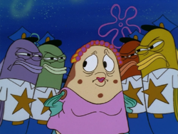 SpongeBob SquarePants Mrs. Puff with Police Fish