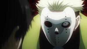 Tokyo ghoul Yamori with mask torturing Kaneki