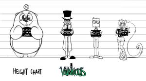 """Villainous"" Height Chart"