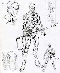 Gray Fox Exoskeleton Concept Art MGS
