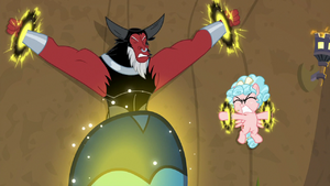Tirek and Cozy Glow's binds tightening S9E8