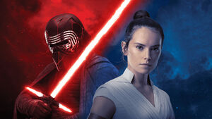 Kylo ren rey star wars the rise of skywalker