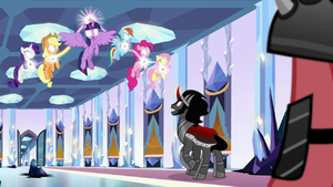 Mane Six harnessing the Elements of Harmony S9E1