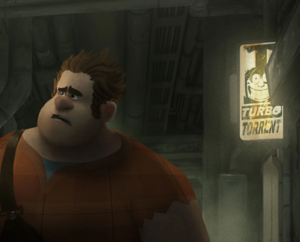 Turbo art in ralph breaks internet