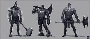 Elemental Talos Juggernaut trio concept