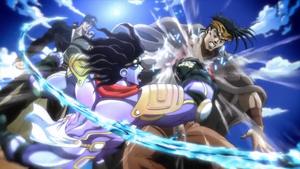 Jotaro beats N. Doul