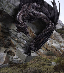 Ancalagon of Angband by book illustrator