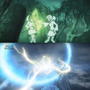 Juggler and Croix Shocked LWA Ultraman Orb
