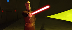 Dooku lightsaber point