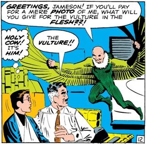 Peter Parker (Earth-616), John Jonah Jameson (Earth-616) and Adrian Toomes (Earth-616) from Amazing Spider-Man Vol 1 7 0001