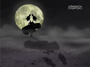 The Stitch Sisters visible in the moonlight