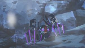 Crustacion climbing a glacier