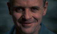 Hannibal Lecter's evil smirk