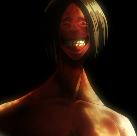 Image result for attack on titan smiling
